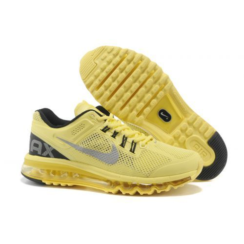 Only Need $80.99 Plus Free Shipping, Mens Nike Air Max 2013 Yellow Grey  Black On