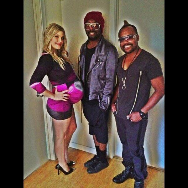 Fergie Shows Off Huge Baby Bump At Baby Shower With Black Eyed Peas