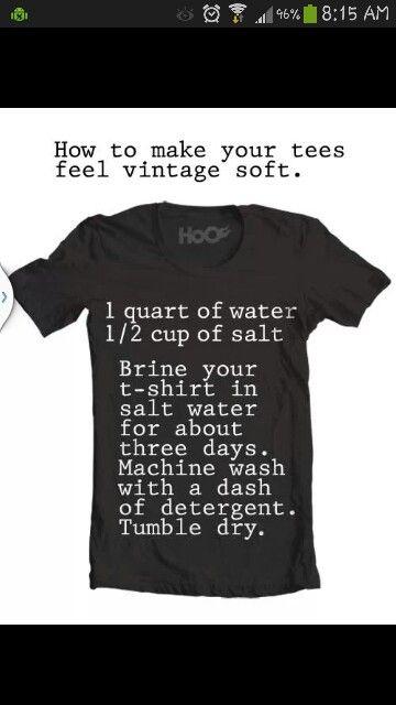 Soften t shirts