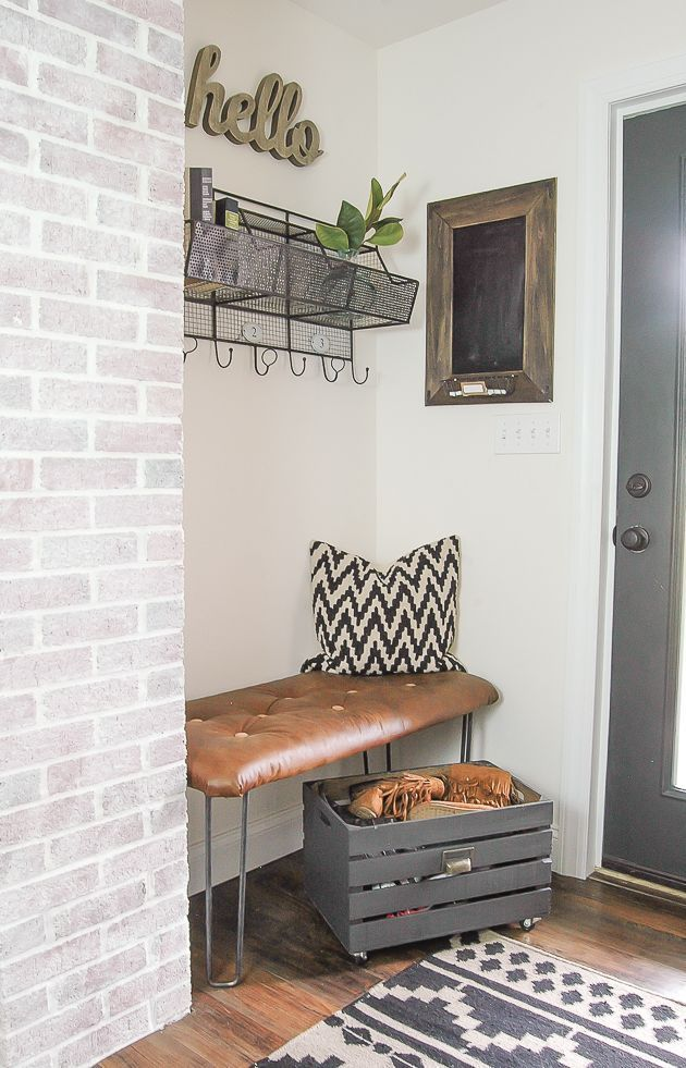 25 best ideas about entryway rug on pinterest eclectic for Modern farmhouse mudroom