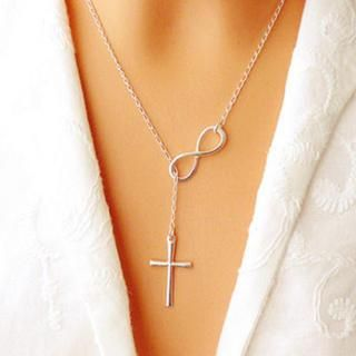 Infinity Cross Sterling Silver Necklace