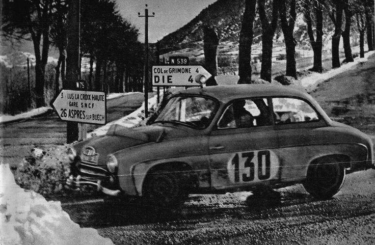 Syrena w rajdzie Monte Carlo w roku 1960
