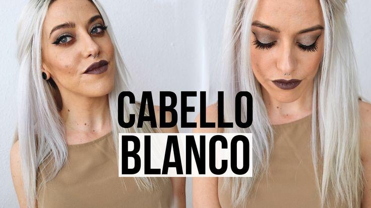 COMO TENER EL CABELLO BLANCO | 2 formas de matizar el pelo blanco, decol...