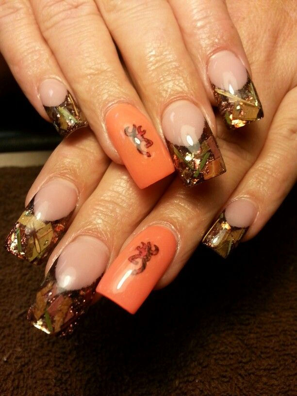 Browning mossy oak camo nails by desta
