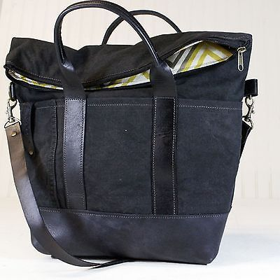 R Riveter Finn Large Handbag in Leather and Upcycled Army Canvas   eBay