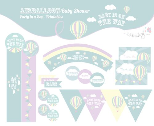Hot Air Balloon Shower - Party in a box  http://awishawaywhimsical.blogspot.com/p/online-store_8.html#!/~/category/id=8530200&offset=0&sort=normal