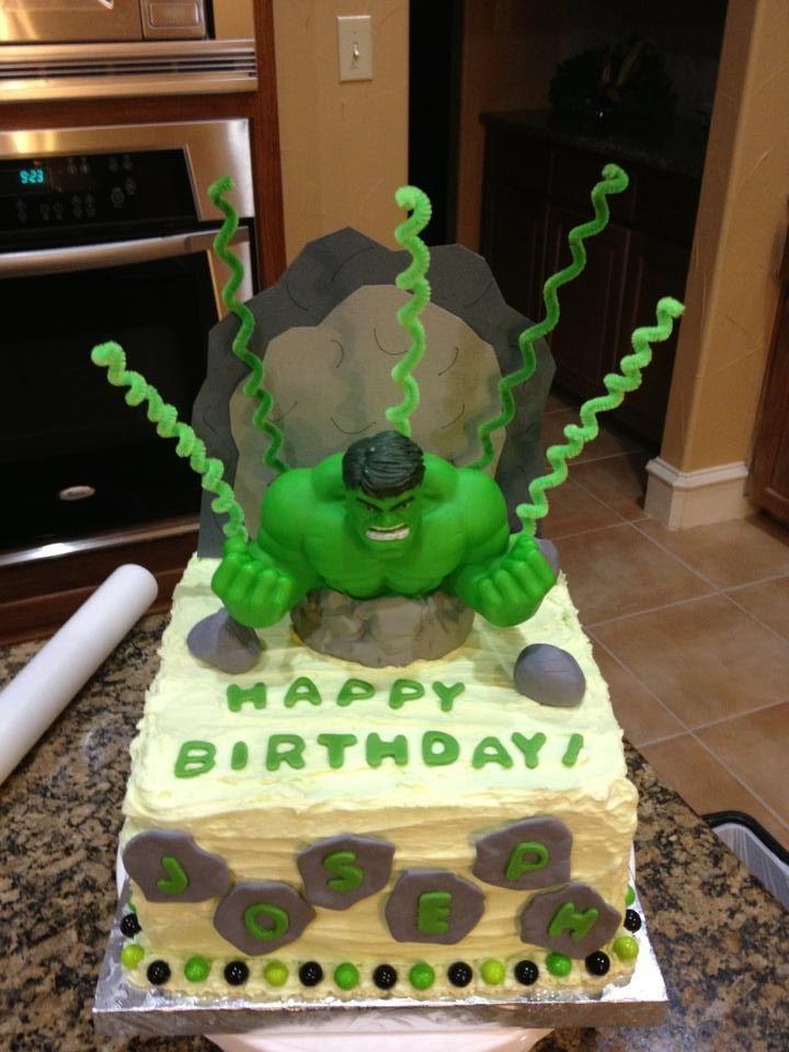 Hulk Birthday Cakes I Ve Done Hulk Birthday Cakes