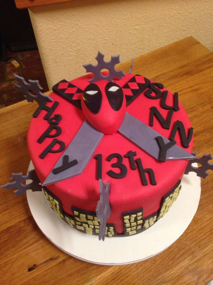 Deadpool Cake Marvel Comics My Cooking Baking