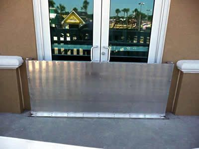 Flood Panel - flood barriers at Westgate Resort, Myrtle Beach, South Carolina