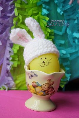 Easter Bunny egg hat.. fun to increase this for a baby hat.