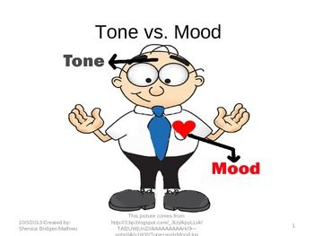 difference between tone and mood in literature