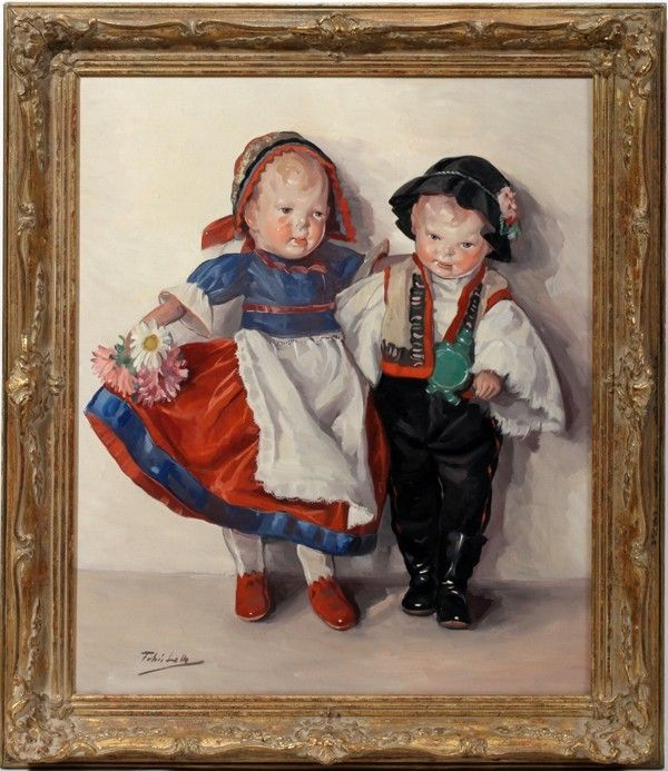 "Lot:122011: FEHER LOLLY (HUNGARIAN) OIL/CANVAS, 24"" X 20"", Lot Number:122011, Starting Bid:$400, Auctioneer:DuMouchelles, Auction:122011: FEHER LOLLY (HUNGARIAN) OIL/CANVAS, 24"" X 20"", Date:07:00 AM PT - Dec 11th, 2011"