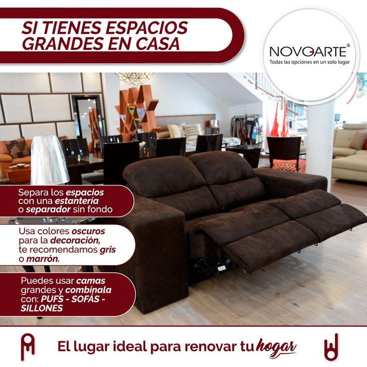 Tu hogar merece lo mejor y en Novoarte lo encontrarás.   #EspaciosGrandes #ComoDecorarMiHogar #TipsDeDecoración