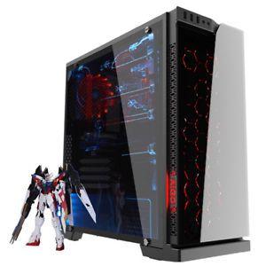 AIGO Gaming Computer PC Case Desktop ATX Mid Tower Liquid Cooling Tempered Glass