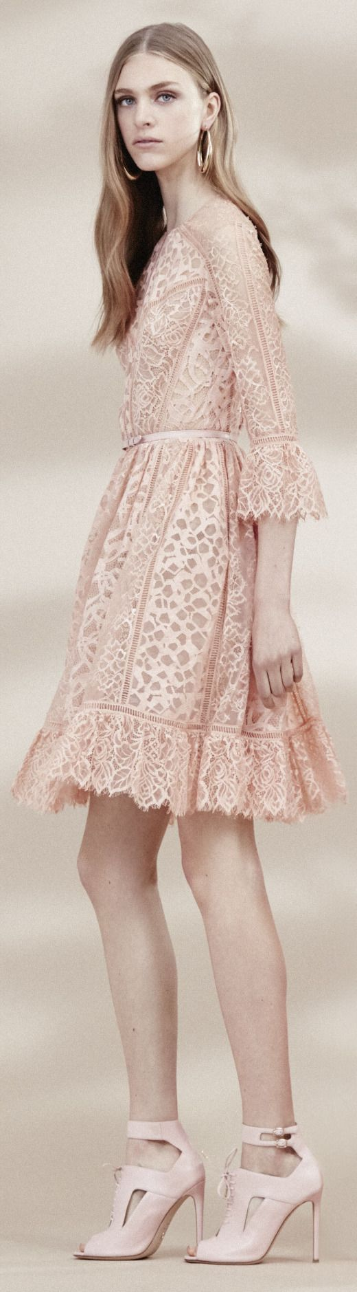 736 best images about peach weddings on pinterest blush for Elie saab blush wedding dress