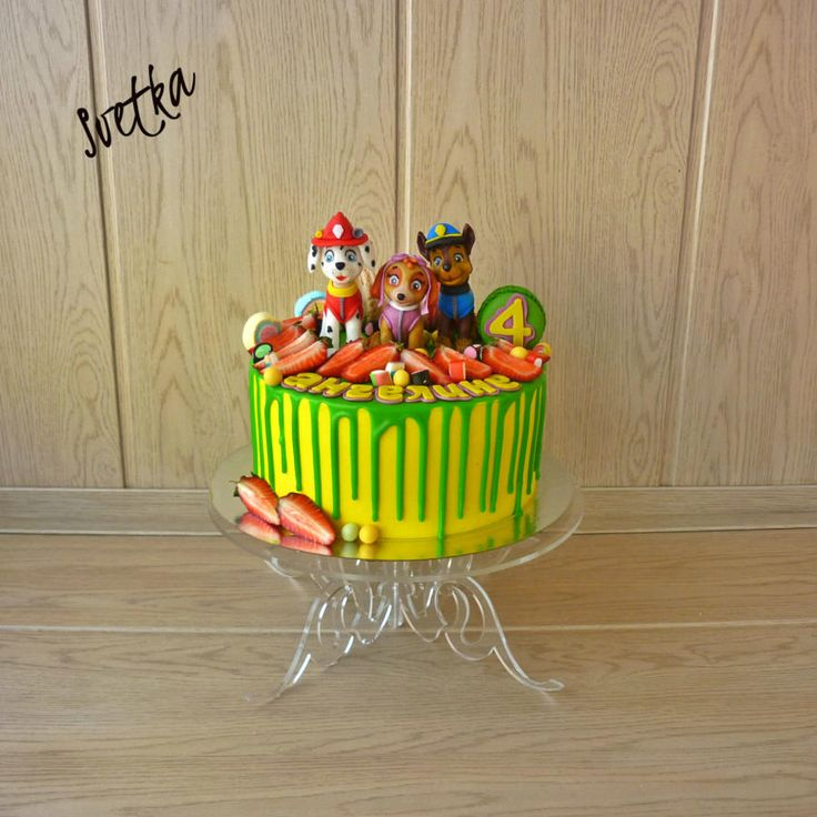 Paw Patrol drip cake - Cake by Svetka80