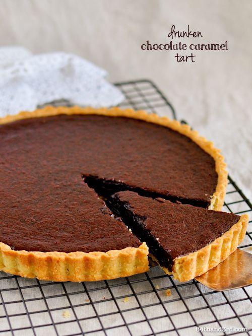 Chocolate Caramel Tart – slightly drunken, utterly decadent, perfection