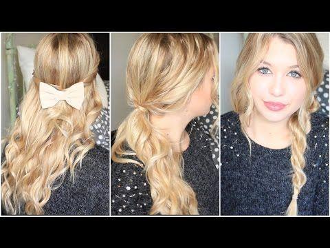 [ Tutoriel Coiffure n° 31 ] : 3 coiffures pour cheveux bouclés ! - YouTube