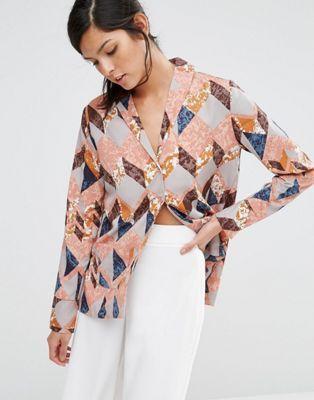 Пижамная рубашка с цветочным принтом Neon Rose