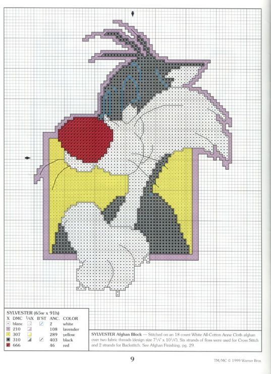 Sylvester Granny Knitting : Best images about cross stitch tweety on pinterest