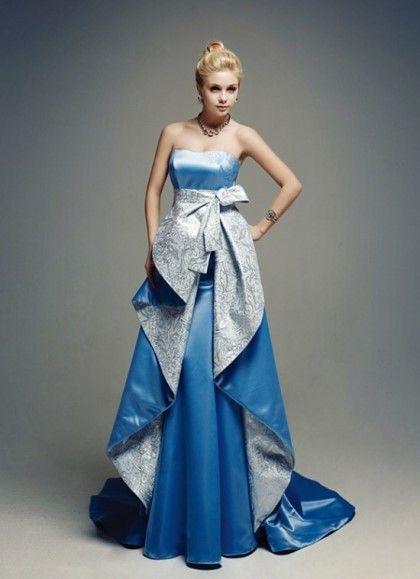 파란색 드레스