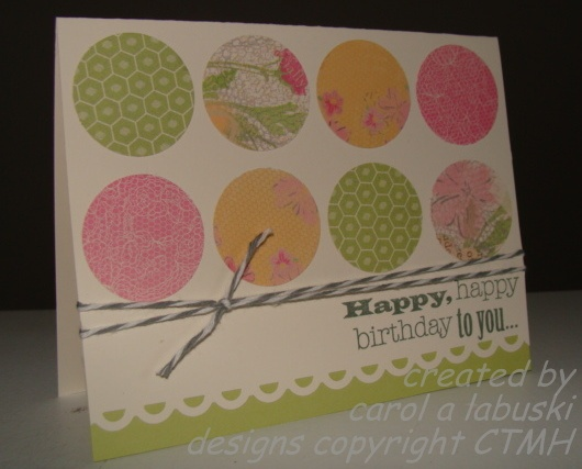 Made with CTMH Lucy papers and Feb SOTM.Cards Perfect, Cards Ideas, Circles Cards, Cards Scrapbook, Ctmh Cards, Cas Cards, Crafty Cards, Cards Crazy, Cards Everyday
