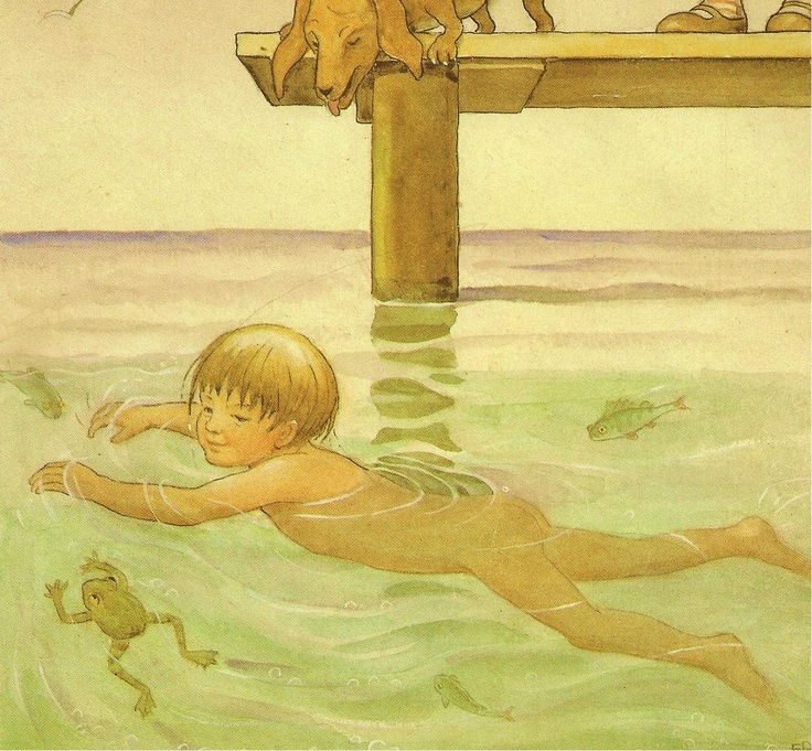 Elsa Beskow on a summer's day..