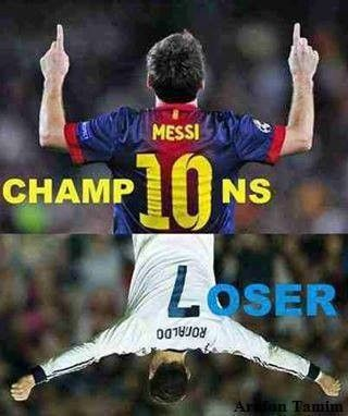 Messi vs Ronaldo<----- YAAAAWWWW THATS RIGHT!!!!!!<------ only REAL soccer players know that Messi is better than Ranoldo