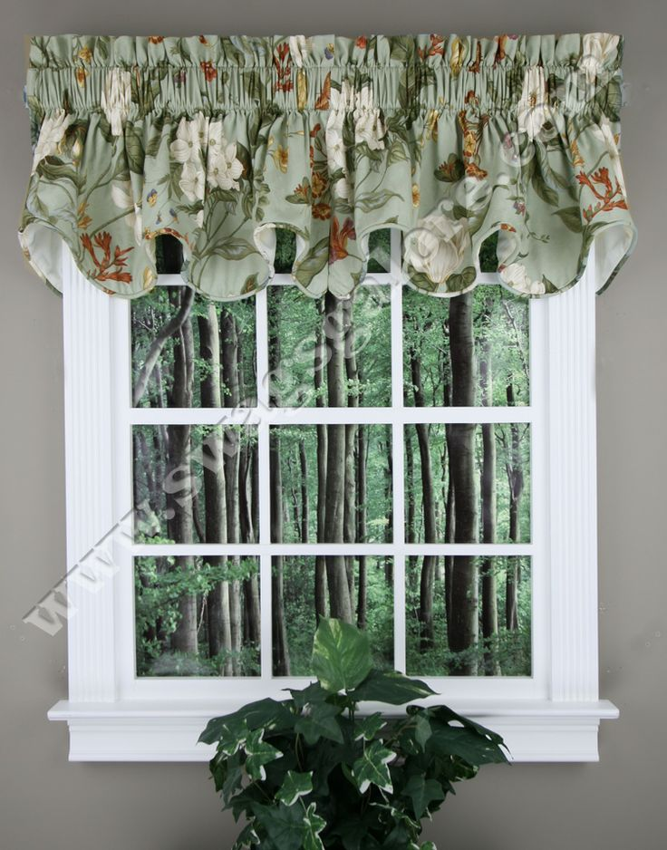 Garden Images A High End Well Made Fully Lined U0026 Corded Valance. 100% Cotton