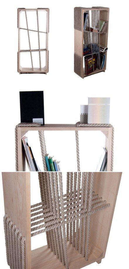 mueble cuerdas muy ingenioso