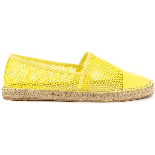 Circus by Sam Edelman Women's Lena - Acid Yellow ($42) ❤ liked on Polyvore featuring shoes, yellow, cap toe shoes, stitch shoes, yellow espadrilles, synthetic shoes and circus by sam edelman shoes