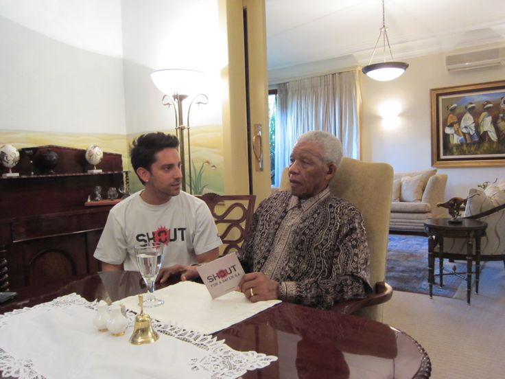 Danny K visits Madiba to discuss the SHOUT campaign
