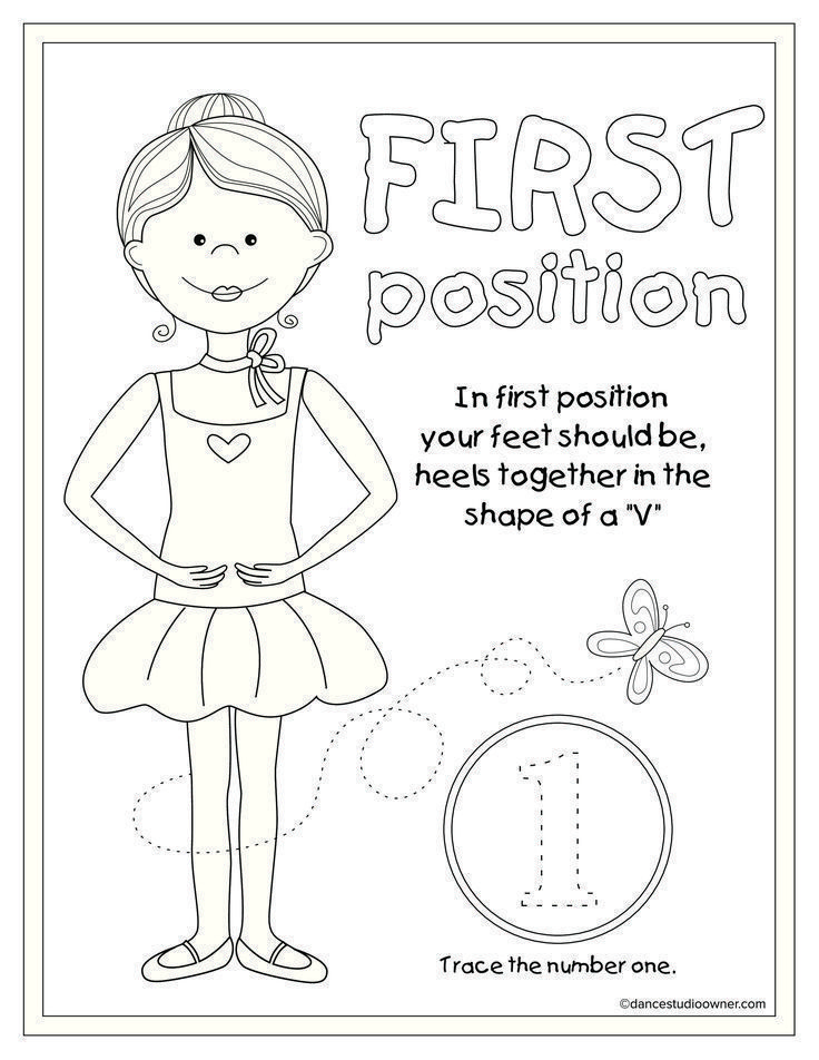 1st Position Coloring Page Dance Coloring Pages Pinterest