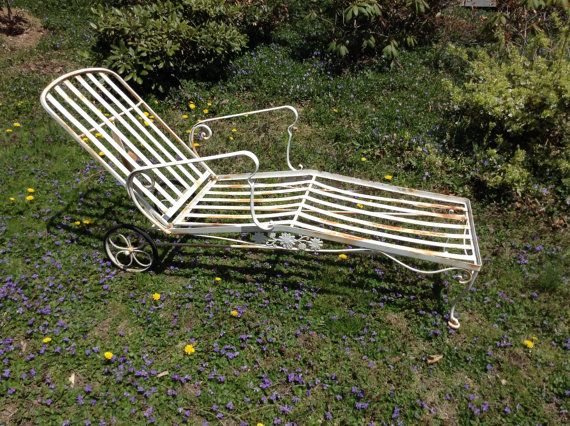 Chaise Lounge / Woodard Wrought Iron Chaise by assemblage333 $495.00 : woodard chaise lounge - Sectionals, Sofas & Couches