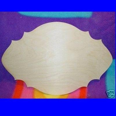 UNFINISHED Wood Plaque Shape LARGE 9'' x 14''. $3.99, via Etsy.