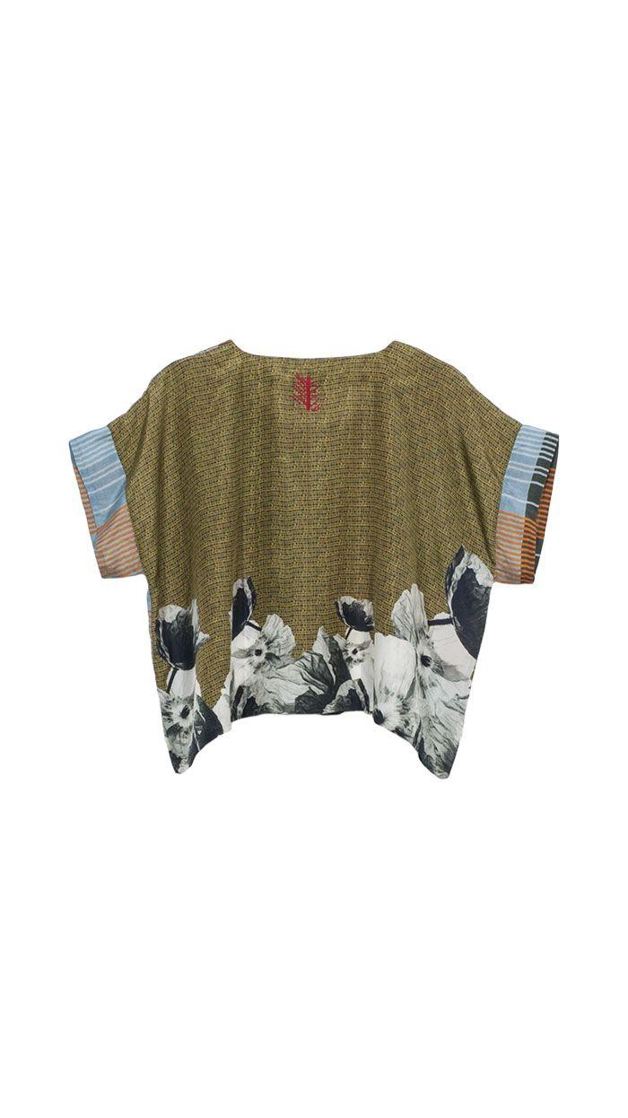 TM COLLECTION | Shirt Lang Tartan & Flowers