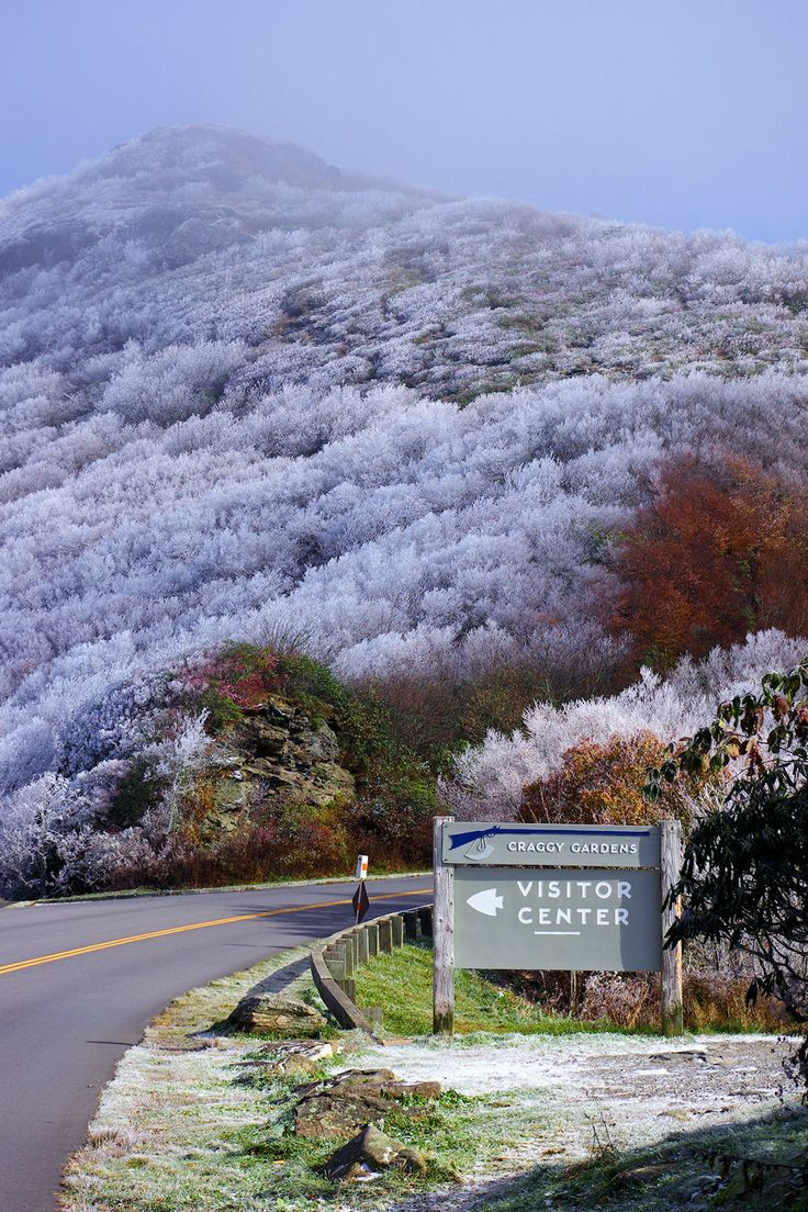 Craggy Gardens with rime ice on the Blue Ridge Parkway near Asheville