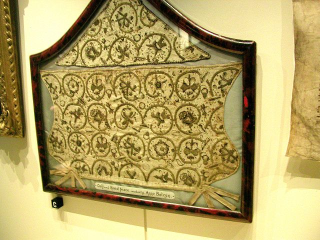 anne boleyns' tower | Tower of London: Anne Boleyn's needlework | Anne was a very talented at needlework. Beautiful detail and to think this piece is over 500 years old!