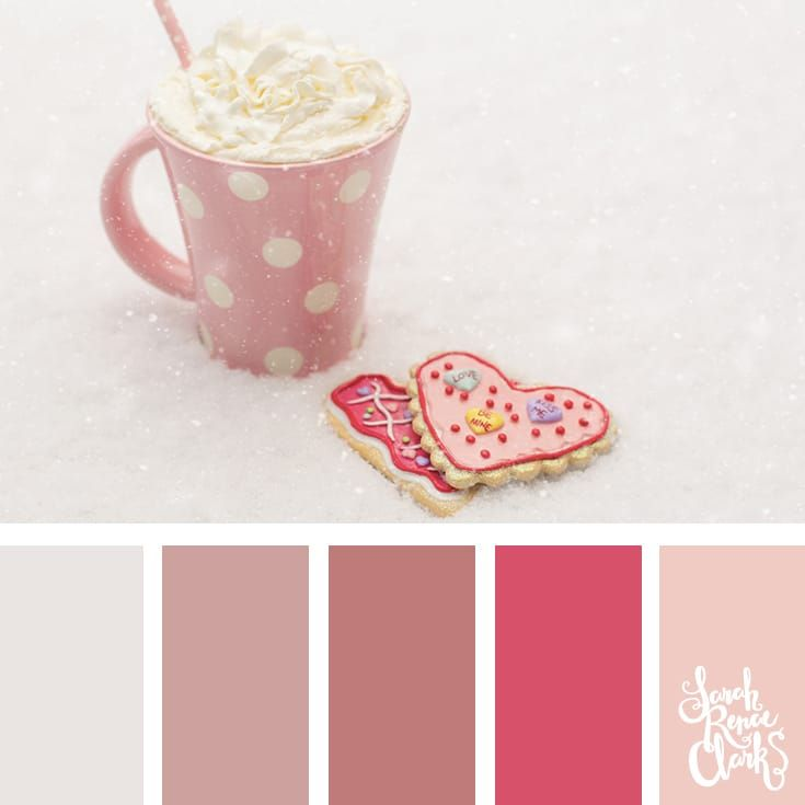 Pink color palettes // Winter Color Schemes // Click for more winter color combinations, mood boards and seasonal color palettes at http://sarahrenaeclark.com #color #colorscheme #colorinspiration