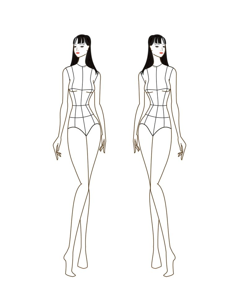 115 best poses de croquis images on Pinterest Draw, Drawings and - blank fashion design templates