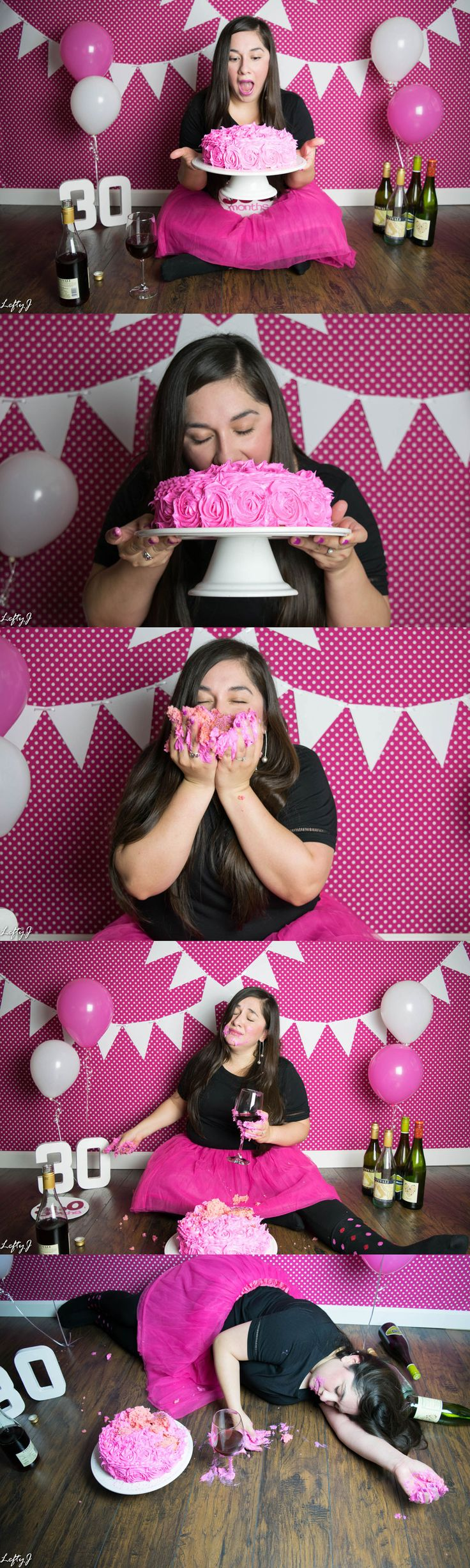 30th birthday adult smash cake photoshoot for @brendap361 by Lefty J Photography in Corpus Christi, TX.  #corpuschristiphotographer #corpuschristiphotography #smashcake #birthday #happybirthday #30 #30th #30thbirthday #30thbday #adultsmashcake #dirtythirty #dirty30