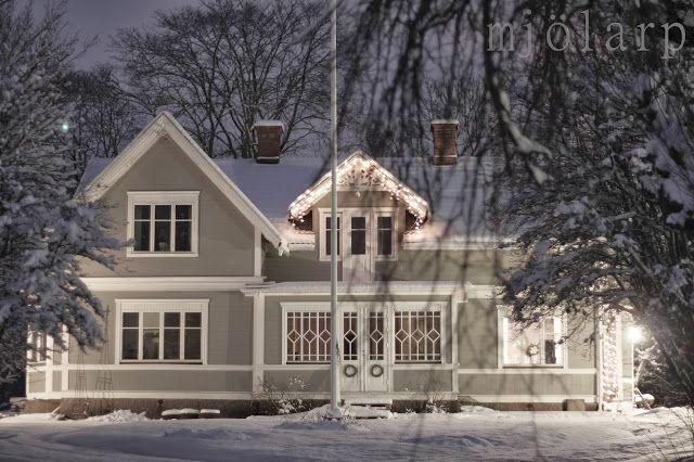 vårt hem i vinterskrud