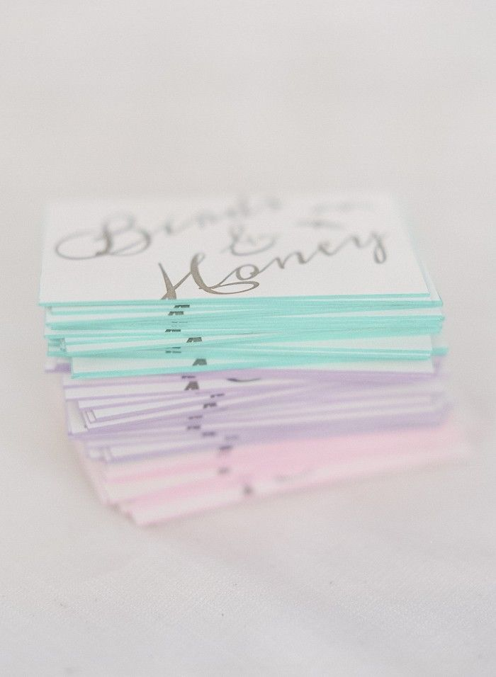 DIY POP OF COLOR BUSINESS CARDS
