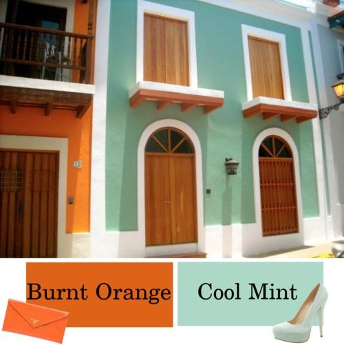 Burnt Orange Cool Mint Future Kitchen Inspirations For Home