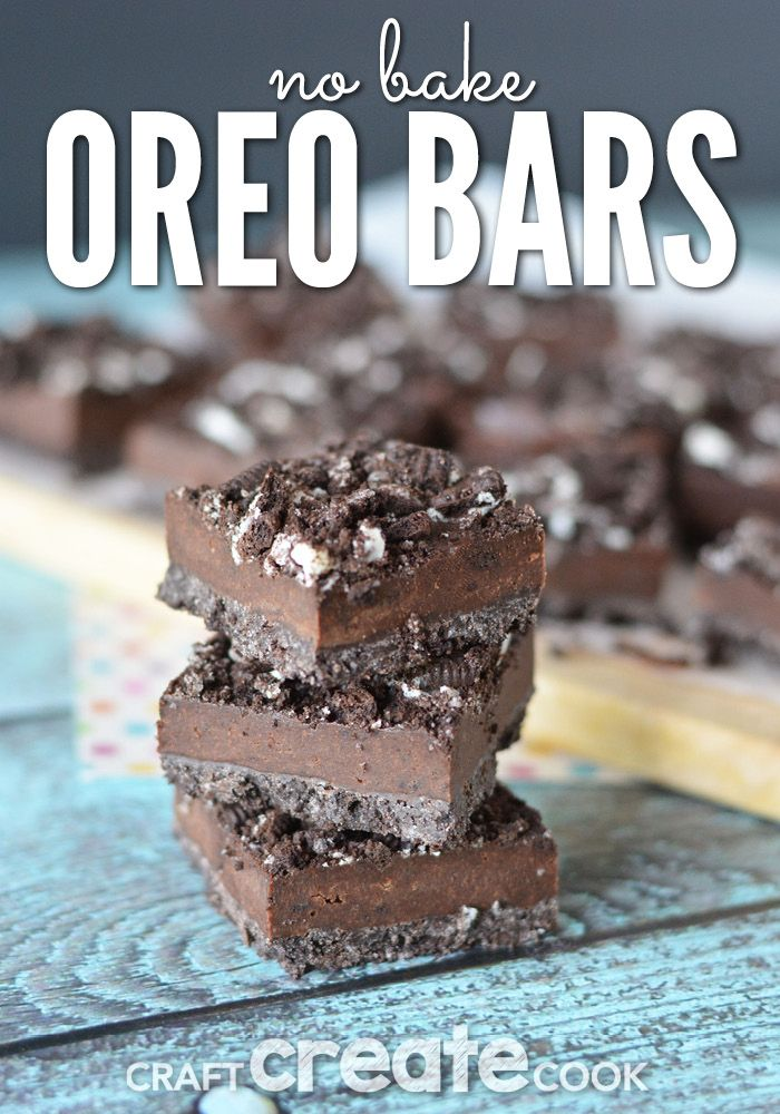 No bake Oreo Bars!