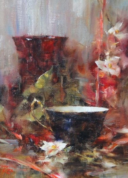 Laura Robb artist - still life paintings in Jackson Hole, Wyoming