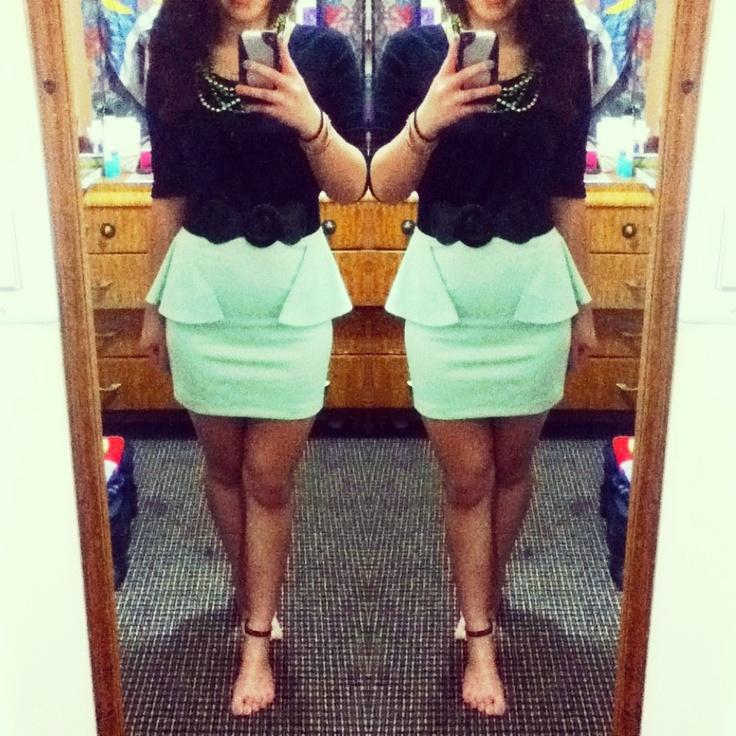 25  best ideas about Peplum skirt outfits on Pinterest | Pencil ...