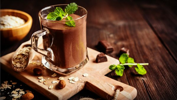 Brew strong coffee to give yourself a strong caffeine buzzwith the morning wake up smoothie. Whether you add Triple Chocolate Brownie or French Vanilla... it will warm you up and get you going.Recipe:1 cup strong chilled coffee2 scoo...