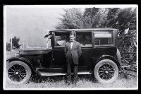 A 1924 Dodge sedan with registration HCC106 (Hutt County Council no. 105)