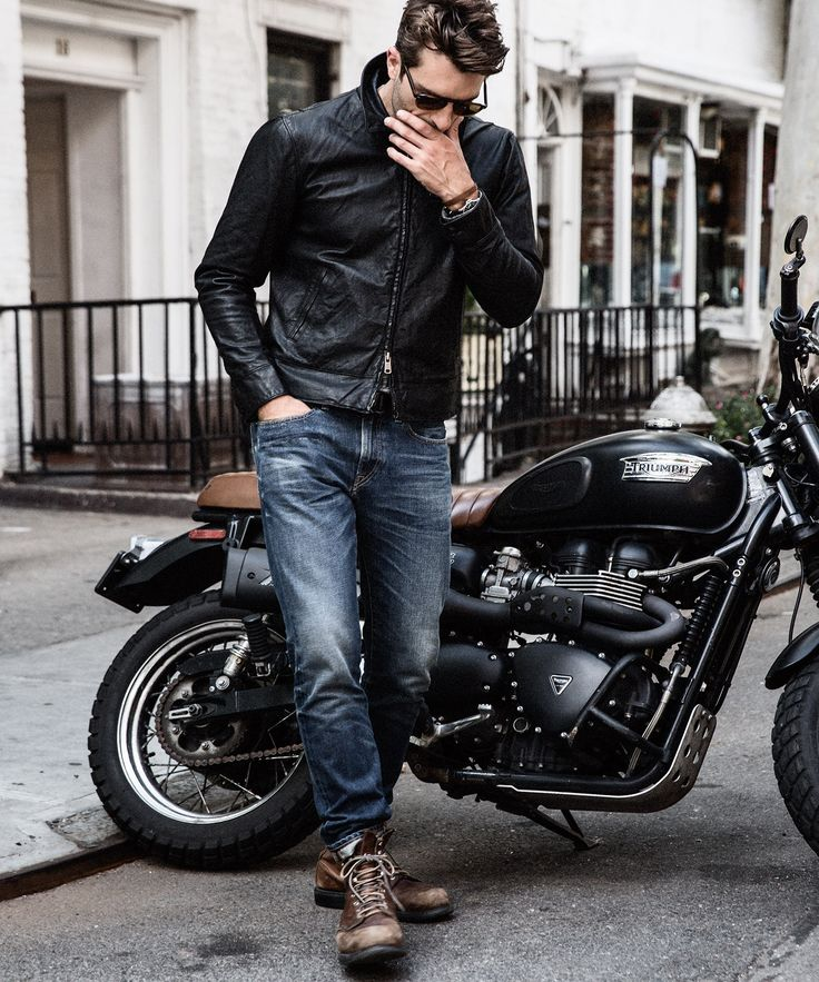 With a true moto silhouette crafted from premium calfskin, this jacket is a…